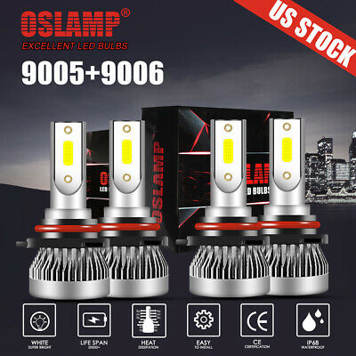 OSLAMP Combo 9005 9006 LED Headlight Bulb for GMC Sierra 1500 2500 HD 2001-2006