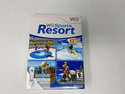 Nintendo Wii Sports Resort Complete Original Box with Wii Motion Plus Adapter