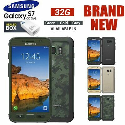 UK Unlocked SAMSUNG Galaxy S7 Active G891A Android Rugged Phone Grey Gold Green