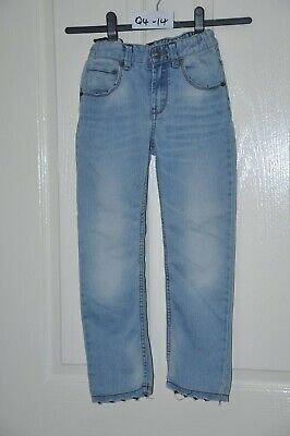 BENETTON light blue skinny stretch denim jeans, age 7-8 yrs, height 130 cm