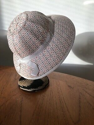 Vintage French New Old Stock Childs Summer Hat Bonnet