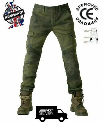 Mens Motorcycle Jeans Motorbike Pants / Trousers  Free CE Armour