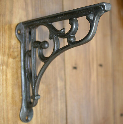 SHELF BRACKET Cast Iron Metal Victorian Wall Scroll, Wood Shelf / Cistern / Sink