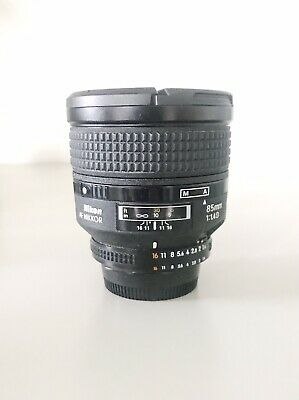 Nikon AF Nikkor 85mm F1.4 D Autofocus Lens With Front & Rear Caps & Hood