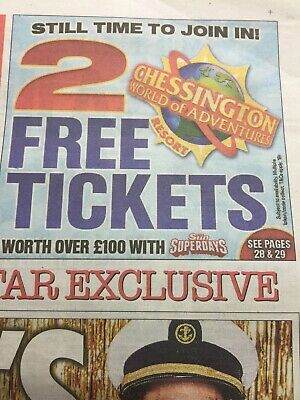 2 X CHESSINGTON TICKETS / 10 Tokens And Form