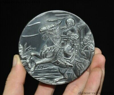 Old Chinese bronze history celebrity emperor Genghis Khan Commemorative coins