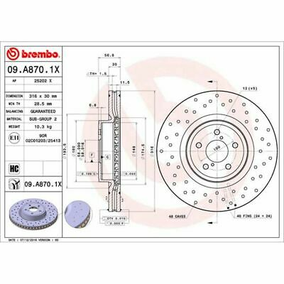 Bremsscheibe BREMBO XTRA LINE BREMBO 09.A870.1X