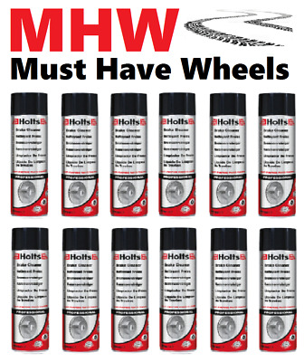 HOLTS BRAKE CLEANER 12 x 600ml Spray Can Package - Free Tracked Delivery