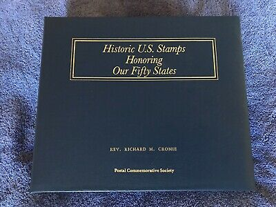Historic Us Stamp Album Honoring Our Fifty States, Postal Commemorative Society