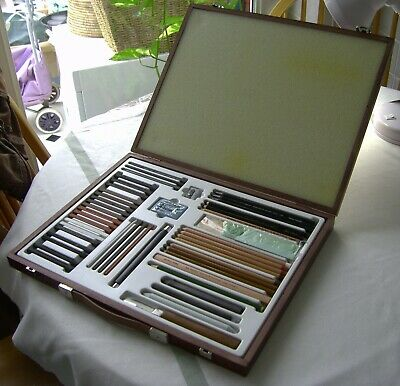 Faber Castel Monochrome Pencil Pastel Graphite Artists Set wood case