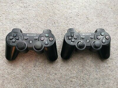 Pair of Official Sony PlayStation PS3 Wireless Controllers