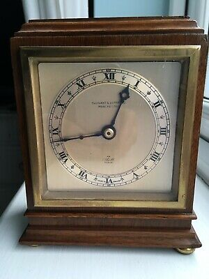 Elliott Mantle Clock In Mahogany Mid 20th Century Antique Vintage London