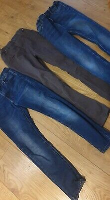 Primark Boys Skinny X3 Jeans Age10-11 146cm  Blue And Brown