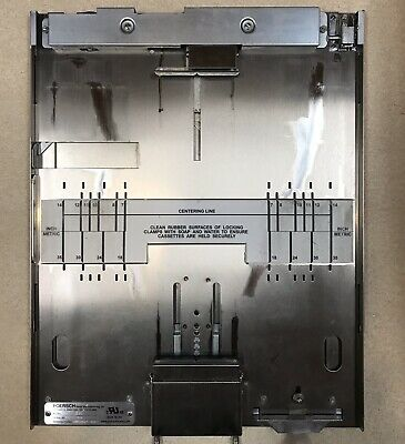 X Ray Cassette Bucky Tray, Table, Grid, Poersch Metal Manufacturing co.