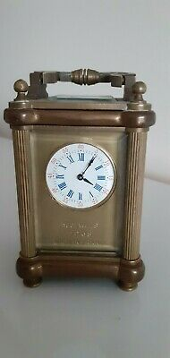 Miniature French 19 Jewel 7 Day Carriage Clock. Needing Escapement Repair Work.