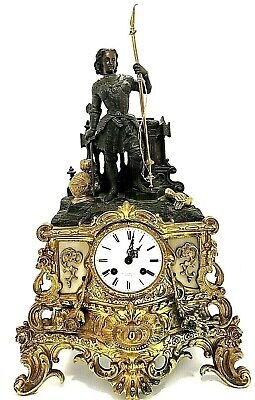 French Louis XVI Pendulum Mantel Clock P.L. Hausberg Paris Bronze Marble Gilded