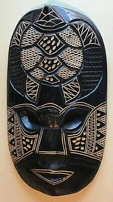 Beautiful Vintage Hand Carved Wooden Face Mask,highly Detailed