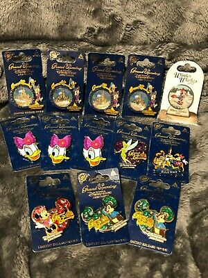 14 Authentic Disney Pins Limited Release Shanghai China Grand Opening One Lot
