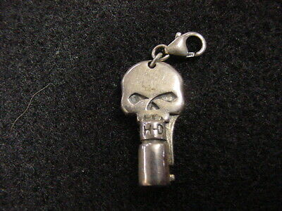 Harley Davidson*Willie G Skull Key*Sterling Silver Charm For Bracelet*Dealer*New
