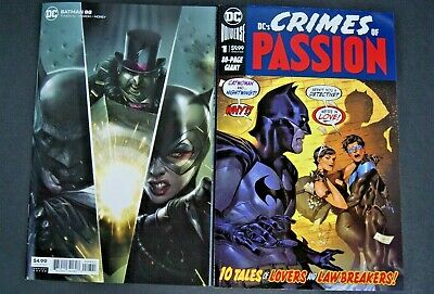 Dc's Crimes Of Passion # 1 And Dc Uiverse Batman # 88 Variant Two Book Lot