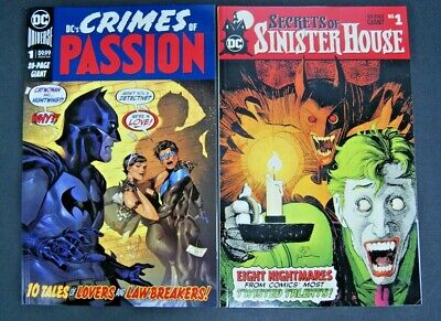 Dc Secrets Of Sinister House # 1 And Dc's Crimes Of Passion # 1 Two Book Lot