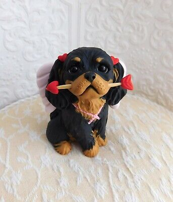Cavalier King Charles Valentine's Day Cupid Clay Sculpture by Raquel theWRC