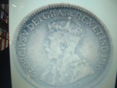 1913~CANADA 5 CENT SILVER COIN KING GEORGE V. (Good Condition).>NICE>LQQK>