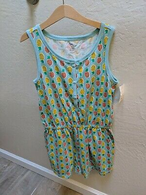 Girls Tea Collection tropical Cotton Short Romper Size 12 NWT