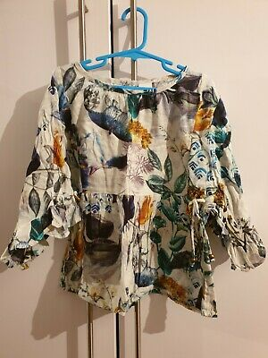 next girls floral blouse with cami aged 7 years