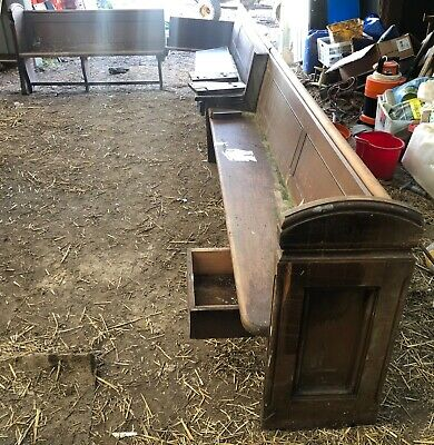 Very Large Antique Church Pew Bench Seat Restoration Project near Brighton