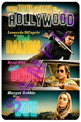 ONCE UPON A TIME IN HOLLYWOOD 12x18 FAKE MOVIE POSTER RICK DALTON DICAPRIO 2