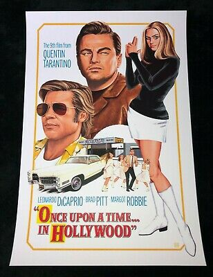 ONCE UPON A TIME IN HOLLYWOOD 12x18 MOVIE POSTER TARANTINO BRAD PITT CLIFF BOOTH