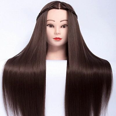 """Mannequin Head For Hair Training - Hair Mannequin - Practice Hairstyles - 25"""""""