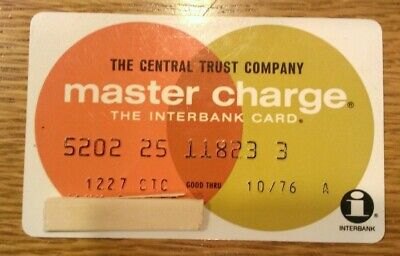 1975 master charge credit card, The Central Trust Company