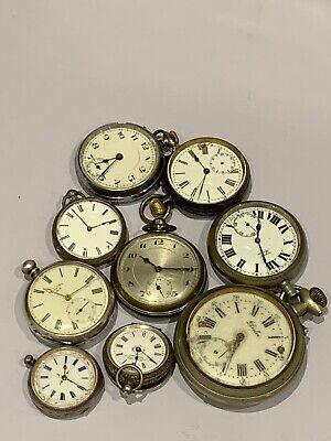 Collection Of Vintage/Antique Silver And Metalware Pocket Watches - Job Lot (9)