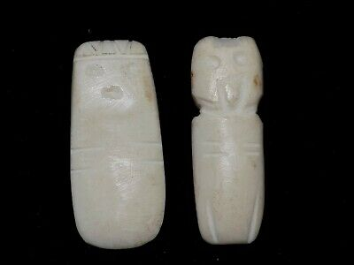 Pre-Columbian Primitive Shell Pendants, Pair, Costa Rica