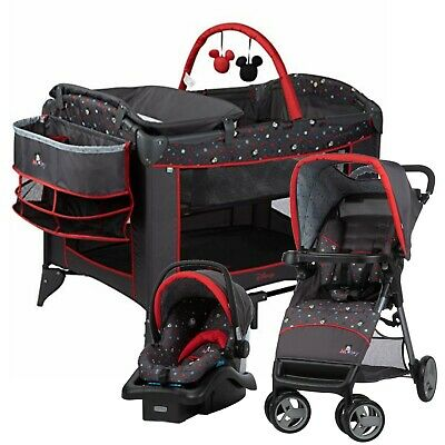 Disney Baby Travel System with Car Seat Infant Toddler Playard Set New TR382EWY