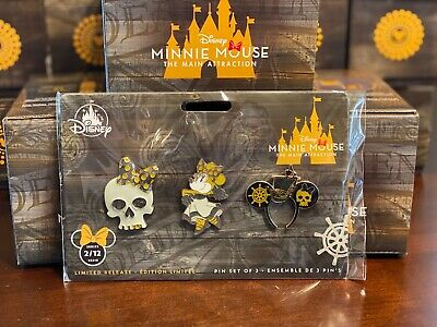 Minnie Mouse The Main Attraction Pirates Of The Caribbean Pin Set Limited NEW
