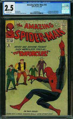 AMAZING SPIDER-MAN #10 CGC 2.5 1st app of the Big Man & the Enforcers!