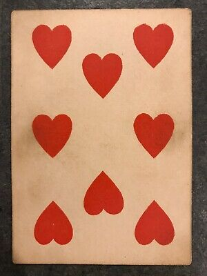 ORIGINAL ANTIQUE 1860-1870s NO NUMBERS PLAYING CARD OLD WEST CIVIL WAR US RARE!