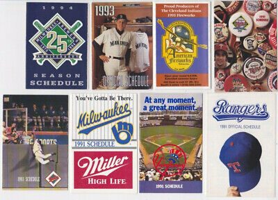 1988 - 1994 MLB Baseball Schedules Lot of 32 different teams A's Cubs Yanks Mets