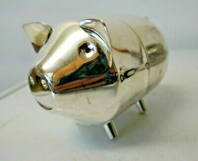 Cast Metal Piggy Bank / Moneybox - x2 Part Piggy