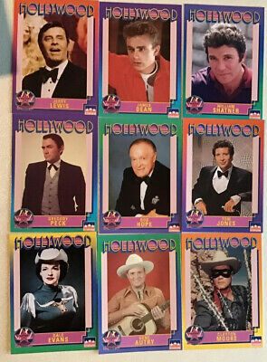 1991 Hollywood Walk of Fame Celebrity Trading Cards, Lot Of 340,EX-NM