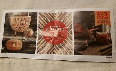 World Market Coupon - Save 20% Off - Expires: 3/31/2020
