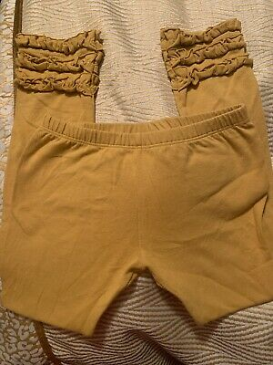 Persnickety Gold Yellow Ruffle Leggings 6