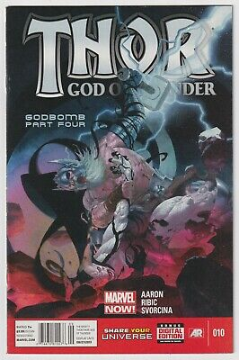 THOR: GOD OF THUNDER #10 | Godbomb | RARE Newsstand Variant | 2013 | VF+