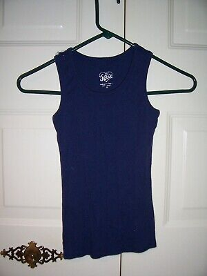 Justice girls navy blue tank top size 8