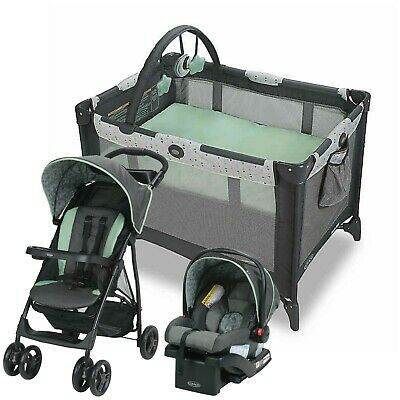 Graco Baby Stroller with Car Seat Travel System Infant Playard Crib Combo New