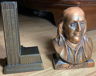The First National Bank Of Atlanta And Ben Franklin Metal Coins Bank