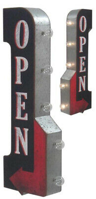 Open Off The Wall Tin Sign